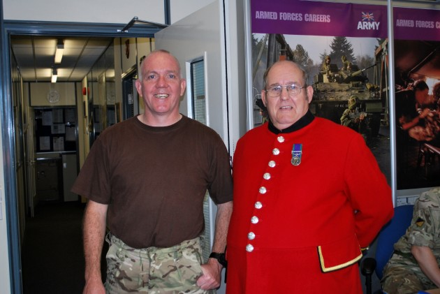 Steve visits his old pal Sgt. Major Johhny Greechan