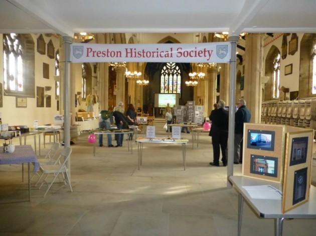 The PHS open day begins in St John's Minster, Church Street, Preston