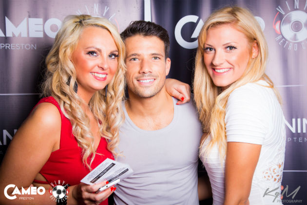 Danny Mac with two Preston clubbers at Cameo and Vinyl