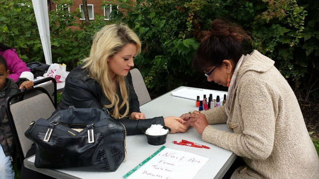 A nail art bar was also a top attraction