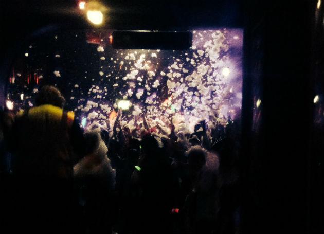 Foam party at Mokai during opening week