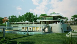 An artists impression of how the multi-million pound home will look