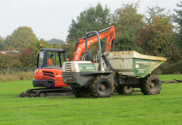 The diggers move in on Levensgarth Park