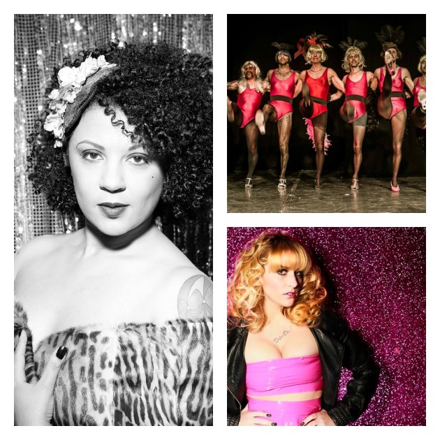From left to right clockwise: Coco Malone, Red Ribbon Cabaret and Ashley Collins