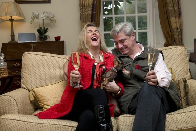 Stephanie and Dom from Gogglebox opened the fete