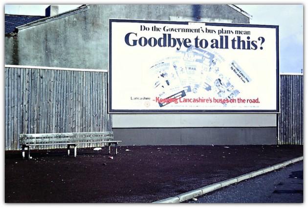 A Lancashire County Council advert about bus changes in Preston