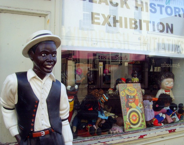 The former store turned into an exhibition of black history