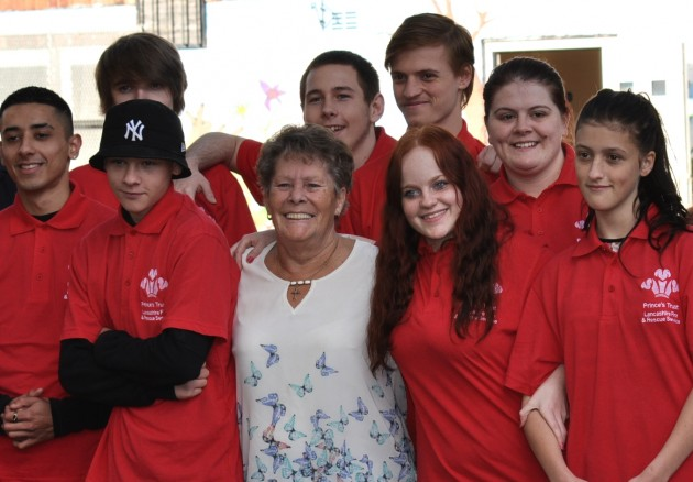 Ann Smith with some ot the Prince's Trust Team