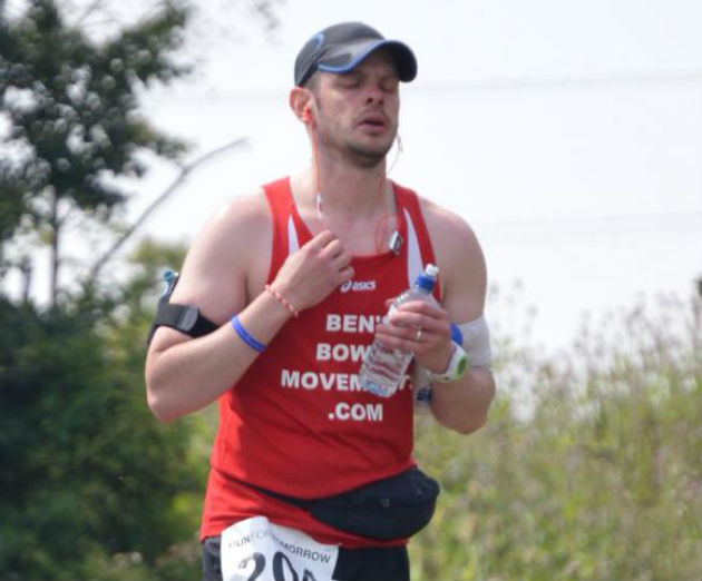 Ben Ashworth during one of his running challenges