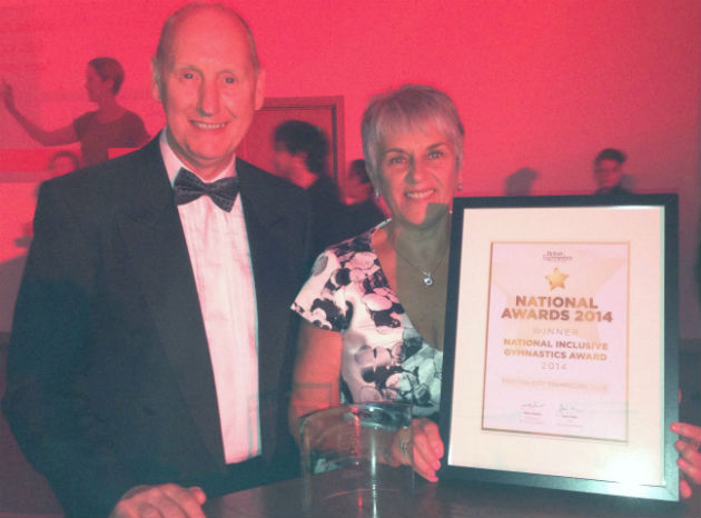 Colin and Angela with the award