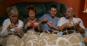 Preston's been featured on Come Dine With Me before, as this bunch eating dessert in their PJs shows