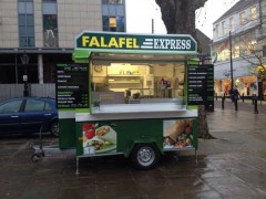 The new falafel stall on the Flag Market Pic: Preston Bible