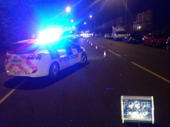 Police closed the A6 in the early hours of Sunday morning