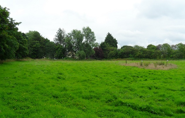 A view of the fields where the extension would go