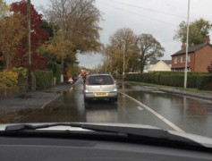 Longridge Road with surface water Pic: @TinTin_57 (Gregory)a