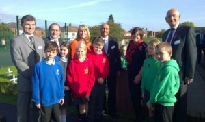 Pupils and staff from Lea Community Primary with Mark Hendrick MP