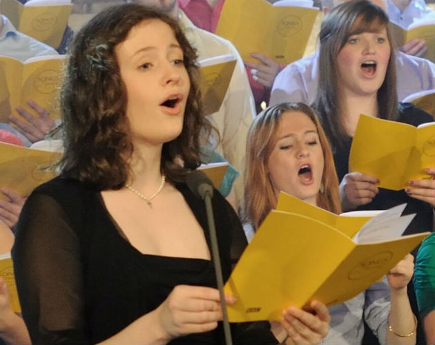 Louisa Stirland opened the festival and performs a second time as part of the Young Voices concert