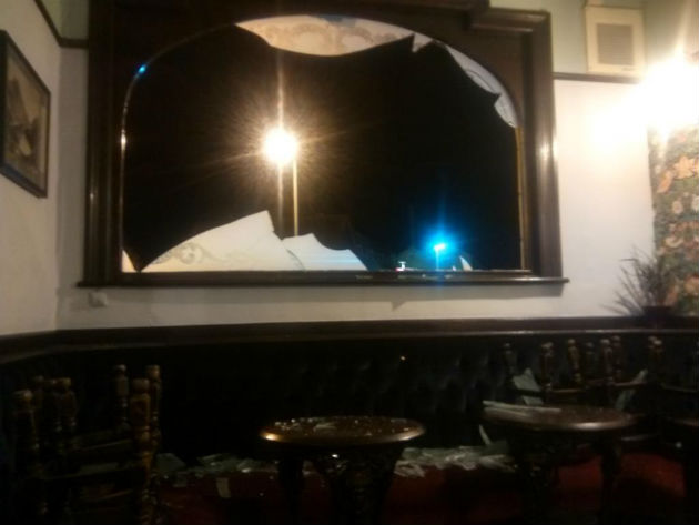 Damage caused at the Moorbrook Inn