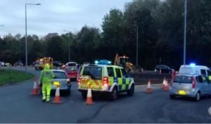 Police on the scene at Penwortham Pic: Preston Police WRCO