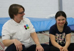 One of the inclusive trampoline sessions
