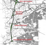 The proposed route of the Western Distributor and Link Roads