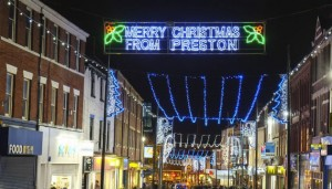 Christmas Lights at the top of Friargate