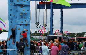 Youngsters can try their hand at climbing during the weekend festival