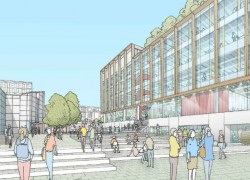 Artist impression showing the new building