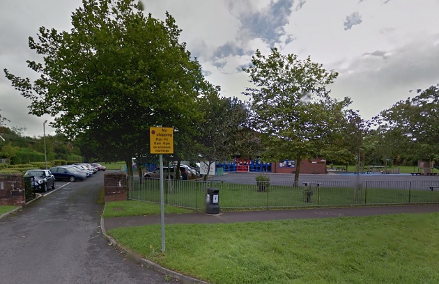 Harris Primary School has parking problems at peak times