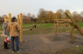 The new kids play area in the park