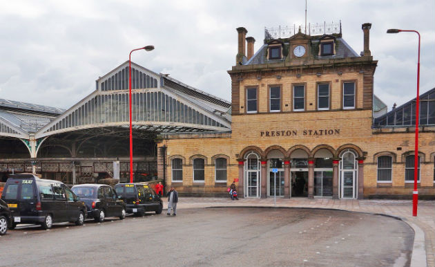 Preston Station's new look entrance