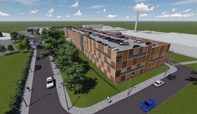 Artist impressions of the proposed Preston Hospital car park