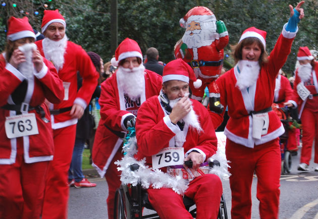 Santa dash 2013 in the Hospice grounds