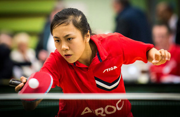 Tin-Tin Ho competing in Preston
