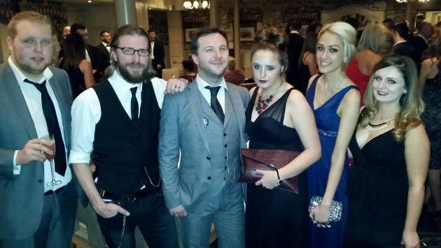 The Three Man Factory team at the awards bash