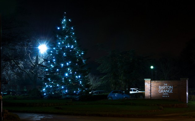 Keith's picture of the Barton Grange Hotel Christmas tree