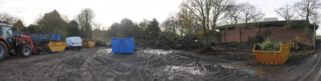 The land to be cleared at the Dig In headquarters
