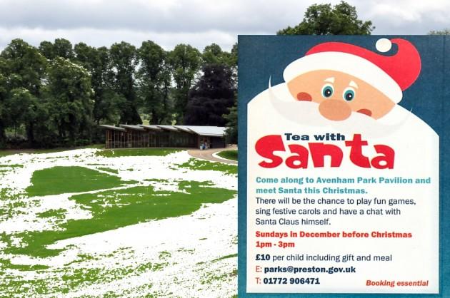 Tea With Santa Winter Snow & Poster