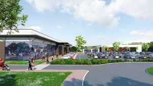 A new artists impression showing the Cottam Hall retail park