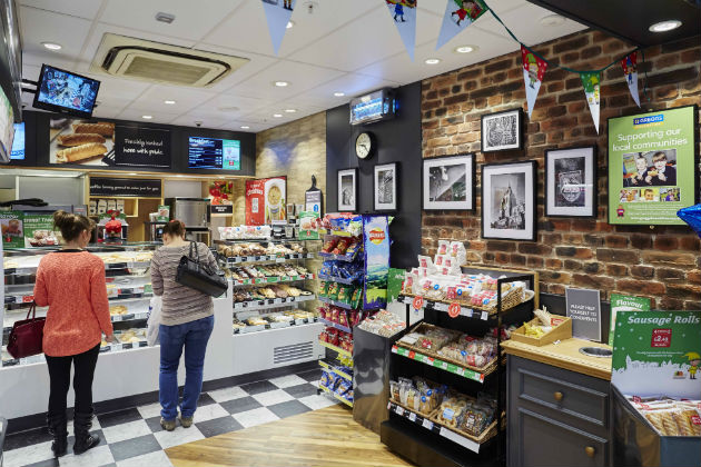 Inside the Orchard Street Greggs outlet