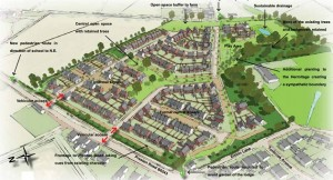 Artists impression of how the new Grimsargh development could look
