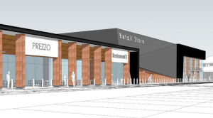 Artist impression of the new store and restaurants at Capitol Centre