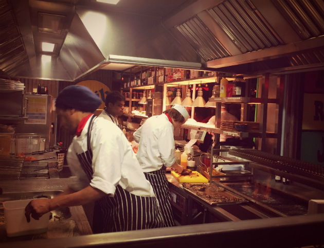 Busy in the kitchen at Turtle Bay