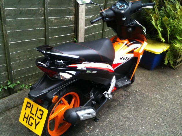 The distinctive scooter taken from Ashton-on-Ribble