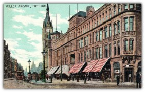 Miller Arcade on the right from when the trams still ran Pic: Preston Digital Archive