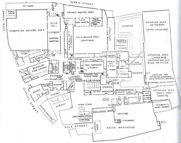Horrockses Yard Works Plan View 1940