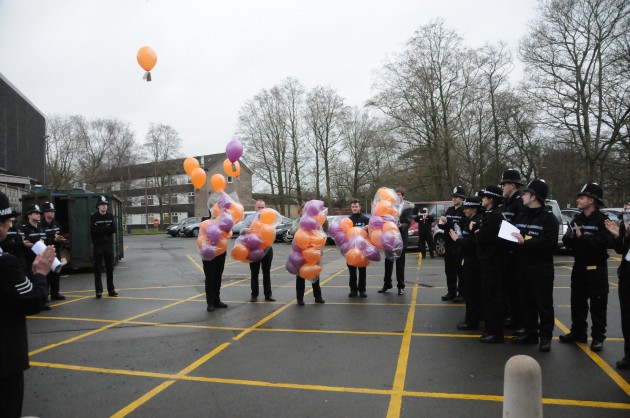 70 balloons released for the 70th anniversary