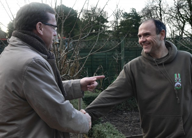 An amusing moment when Civil Society Minister Rob Wilson meets Dig In North West member Rob Wilson