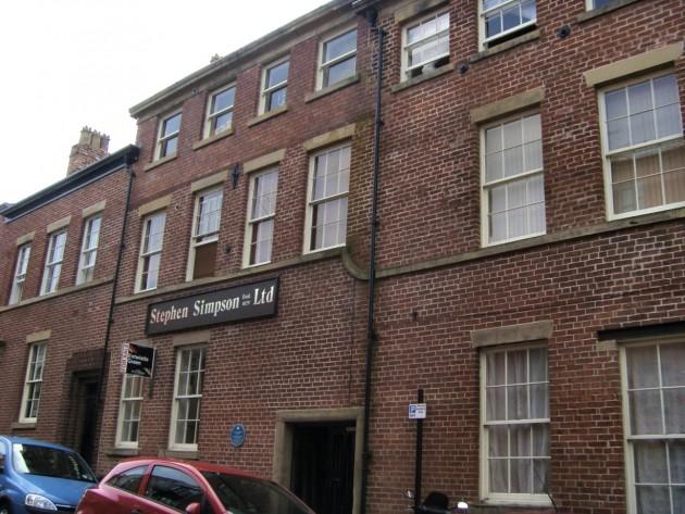 Gold Thread Works apartments, west side of Avenham Road, Preston. 2012