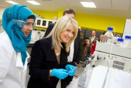 Esther McVey visiting UCLan students